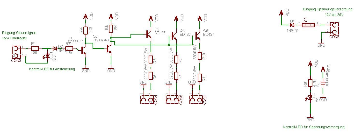 LED_Booster1 - LEDs im Bot für Effektbeleuchtung oder Warnsignale ...